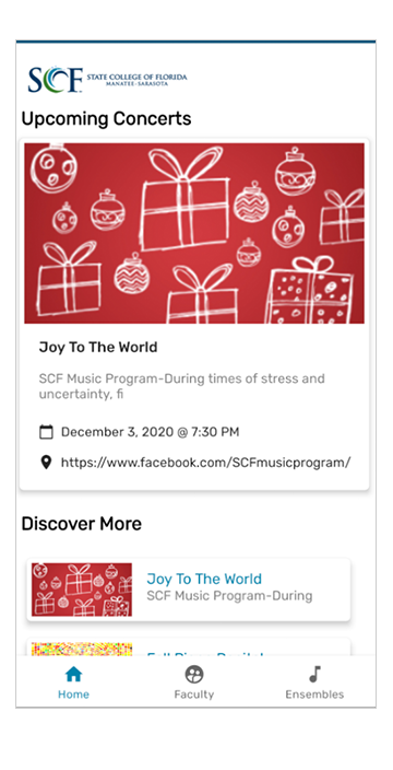 SCF Music Program android app